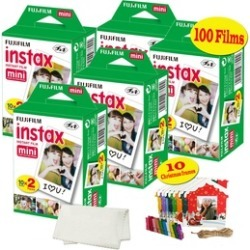 Fujifilm Instax Mini Films, 10 Christmas Hanging Film Frames, Microfiber Cloth.