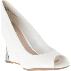 Riverberry Women's 'Naya' Wedge Heel Peep Toe Shoes, White