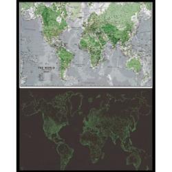 Glow-in-dark World Map Poster