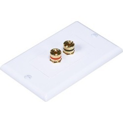 High Quality Banana Binding Post 2-Piece Inset Wall Plate for 1Speaker