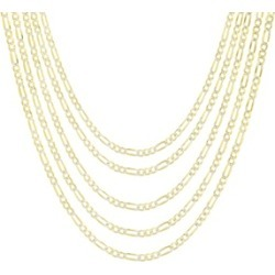 4mm 14K Gold Plated Two Tone Figaro Men's Chain found on MODAPINS from groupon for USD $24.99