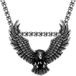 Men's Stainless Steel American Eagle Necklace