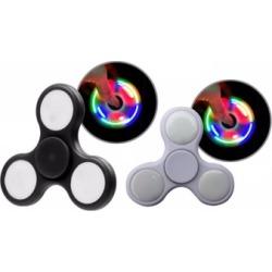 2 PACK LED Hand Spinner Tri Fidget Spinner EDC Focus Toy Kid/ Adult - 2