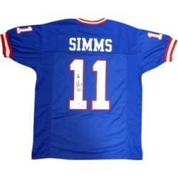 Autographed Phil Simms New York Giants Blue Custom Jersey