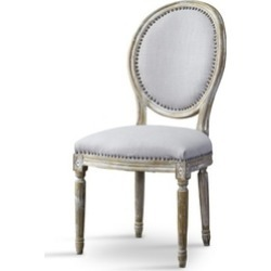 Clairette Wood Traditional French Accent Chair Round