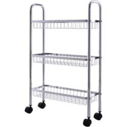 3 Tire Metal Storage Rack Baskets Shelving Home Kitchen Office Garage