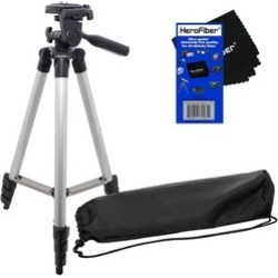 "50"" Light Weight Aluminum Photo/Video Tripod & Carrying Case NEW"