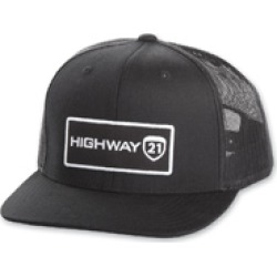 Highway 21 Corporate Black/White Snap Back Hat found on Bargain Bro Philippines from J&P Cycles for $24.99