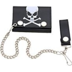 Hot Leathers Skull with Bones Tri-Fold Leather Wallet found on Bargain Bro Philippines from J&P Cycles for $17.99
