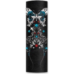 """Hair Glove 4"""" Leather Tribal Turquoise Butterfly"""