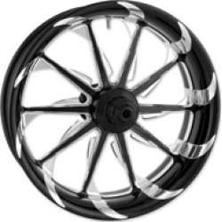 """Xtreme Machine Black Cut Xquisite Forged Launch Front Wheel, 18"""" x 3.5"""""""