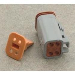 NAMZ Custom Cycle Deutsch 4-Pin Gray Plug Wiring Connector