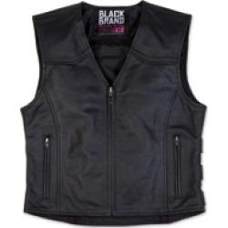 Black Brand Women's Seraph Black Leather Vest