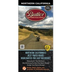 Butler Maps G1 Northern California Motorcycle Map