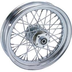 "V-Twin Manufacturing 40 Spoke Chrome Rear Wheel, 16"" x 3"""