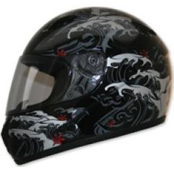 HCI-75 Storm Black Full Face Helmet
