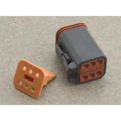 NAMZ Custom Cycle Deutsch 6-Pin Black Wiring Plug Wiring Connector