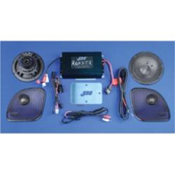 J & M Stage-5 Rokker XXR Custom 350w 2-Speaker/Amplifier Install Kit