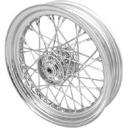 "V-Twin Manufacturing Replica 40 Spoke Star Hub Chrome Front/Rear Wheel, 16"" x 3.00"""