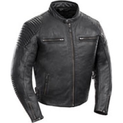 Joe Rocket Men's Sprint TT Black Leather Jacket found on Bargain Bro Philippines from J&P Cycles for $287.99
