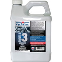 Cycle Care Formula 3 Windshield Paint and Chrome Polish