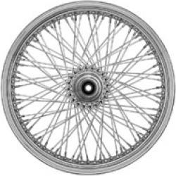 "Ride Wright Omega 80 Spoke Chrome Front Wheel, 21"" x 2.15"""