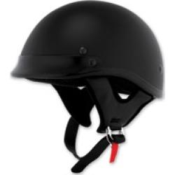 Skid Lid Traditional Flat Black Half Helmet