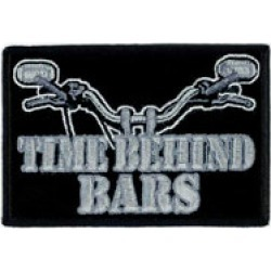 Hot Leathers Time Behind Bars Embroidered Patch