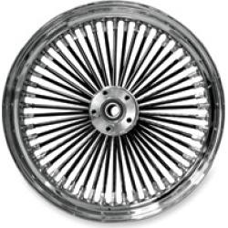 "Ride Wright Fat Daddy Black 50-Spoke Front Wheel, 18"" x 3.5"" Non-ABS"