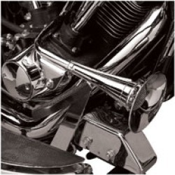 V-Twin Manufacturing Chrome Trumpet Horn Kit