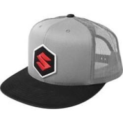 Factory Effex Men's Suzuki Mark Gray/Black Snapback Hat found on Bargain Bro Philippines from J&P Cycles for $24.95