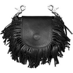 Hot Leathers Classic Black with Fringe Leather Clip Pouch found on Bargain Bro Philippines from J&P Cycles for $49.99