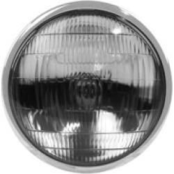 "J & P Cycles 6-1/2"" Black Replica Headlight Assembly"