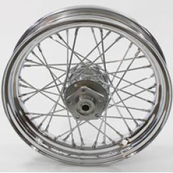 "V-Twin Manufacturing Replica 40 Spoke Chrome Front/Rear Wheel, 16"" x 3.00"""
