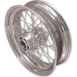 "V-Twin Manufacturing Replica 40 Spoke Chrome Rear Wheel, 17"" x 4.5"""