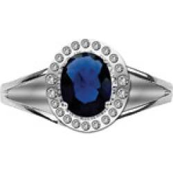 Hair Ringz Sapphire & Rhinestones