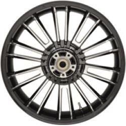 "Coastal Moto Atlantic Black Rear Wheel, 18"" x 5.5"" Non-ABS"