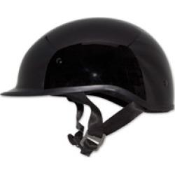 Zox Polo Sport Solid Black Half Helmet