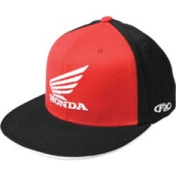 Factory Effex Men's Honda Big Wing Red/Black Flat Bill hat found on Bargain Bro Philippines from J&P Cycles for $24.95