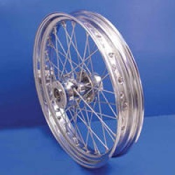 "V-Twin Manufacturing Replica 40 Spoke Chrome Rear Wheel, 16"" x 3"""