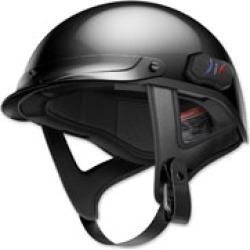 Sena Technologies Cavalry Bluetooth Gloss Black Half Helmet
