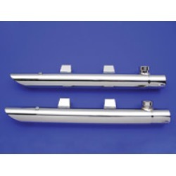 """J & P Cycles 2"""" Chrome Slip-On Drag Pipe Extensions"""