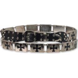 Hot Leathers Iron Cross Stud Black/Silver Belt found on Bargain Bro Philippines from J&P Cycles for $29.99