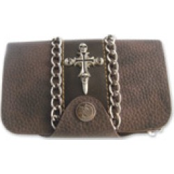 AMiGAZ Skull Cross with Chain Piping Wallet found on Bargain Bro Philippines from J&P Cycles for $29.99