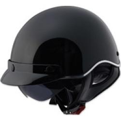 LS2 SC3 Gloss Black Half Helmet