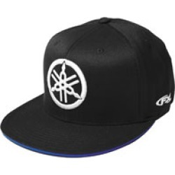 Factory Effex Men's Yamaha Fork Black Flat Bill Hat found on Bargain Bro Philippines from J&P Cycles for $24.95