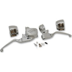 """Drag Specialties Chrome 1/2"""" Handlebar Control Kit without Switches for models with ABS"""