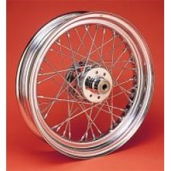 "V-Twin Manufacturing Spoke Chrome Rear Wheel, 16"" x 3.00"""