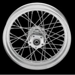 "Drag Specialties 40 Spoke Laced Chrome Rear Wheel, 16"" x 3"""
