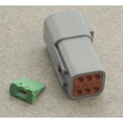 NAMZ Custom Cycle Deutsch 6-Pin Gray Receptacle Wiring Connector